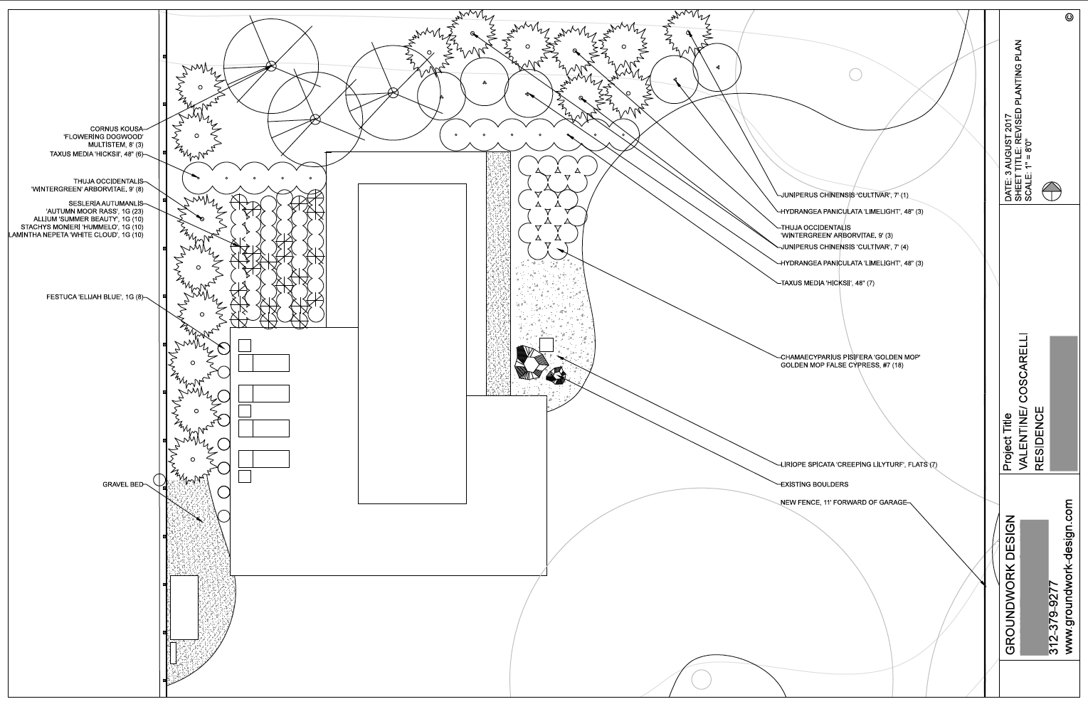 The Frost House - Pool Garden Plan