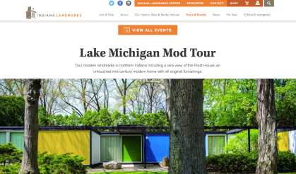 Indiana Landmarks & Indiana Modern Home Tour - Aug 2018